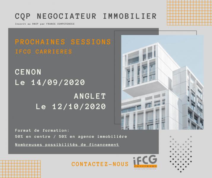 CQP Négociateur Immobilier Cenon ou Anglet